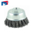 Twisted knot steel wire cup brush