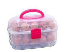 2 Layers Plastic Egg Storage Box Egg Tray Egg Storage Container