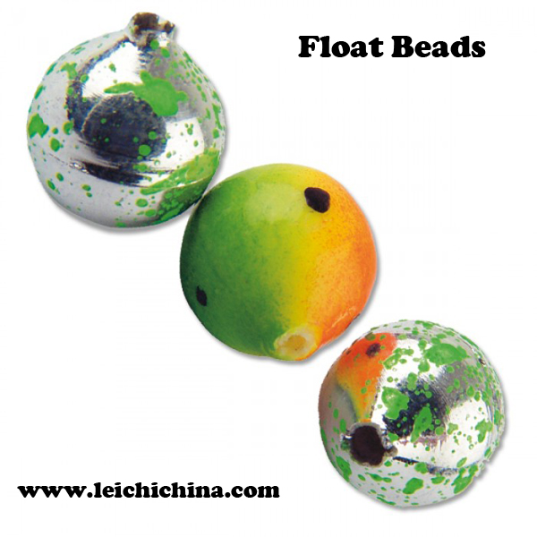 Visual attractive multicoloured sea fishing terminal tackle floating beads