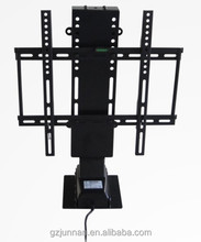 Rotation 360 degree remote control motorized tv lift for cabinet