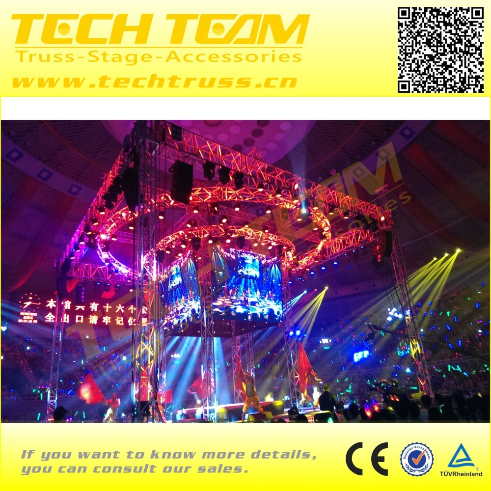 Square 390 Fashion Roof Circle Lighting Truss for Show Decoration.