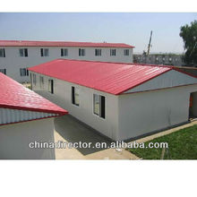 BV certificated and large span light steel structure prefabricated office and labor house and villa