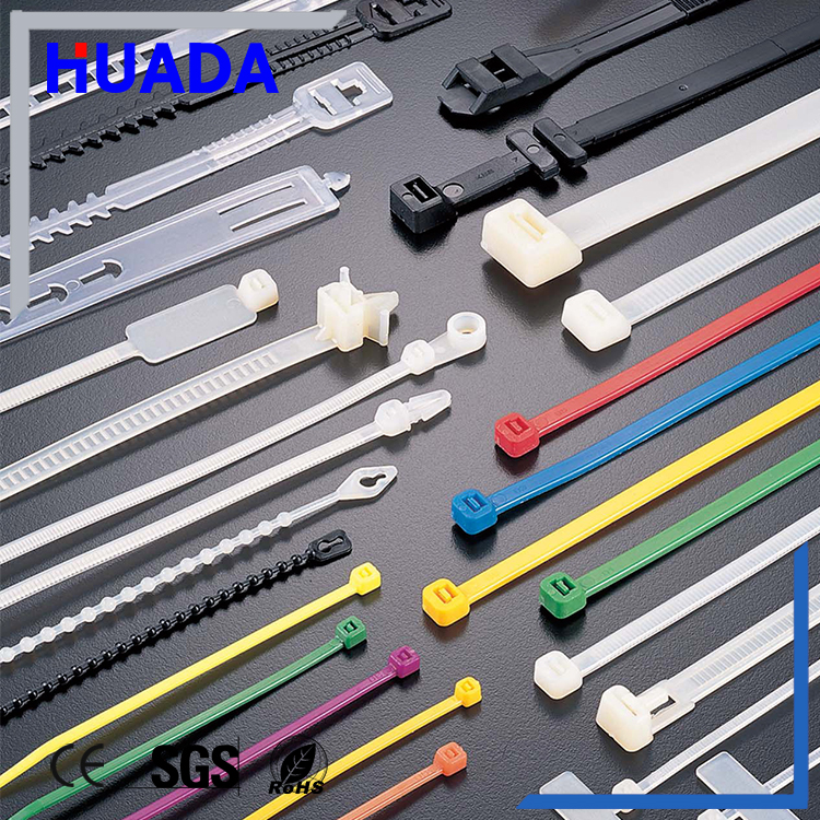 Huada 7.5*650mm self-locking nylon electrical cable tie 1 fireproof cable tie