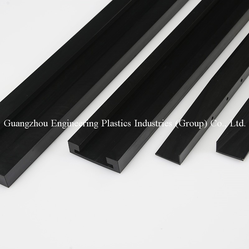 Manufacture custom made wear resistance nylon6 pa66 machined guide rail plastic slide strips