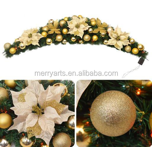 New Year holiday decorations 150cm golden colored artificial decorative vines