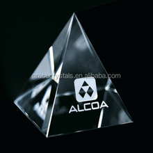Crystal pyramid paperweight personalized glass keepsake paperweight keepsake