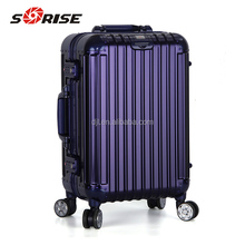 2018 Sunrise aluminum trolley luggage case with TSA custom lock and GPS tracking
