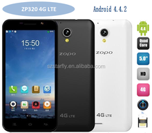 alibaba express ZOPO ZP320 5'' MTK6582M quad core dual sim card android4.4 unlocked 4G LTE smartphone