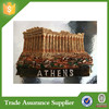 Acropolis Parthenon Athens Greece 3D Poly Resin Fridge Magnet Supplier For Tourist