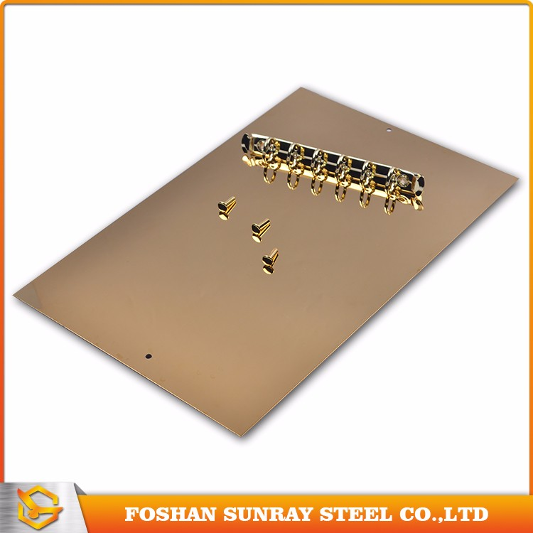 High Quality Colored Steel Ss 304L Gold Mirror Stainless Steel Sheet