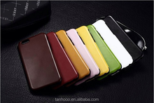 Hot sale phone accessary genuine leather blank phone case for iphone 6