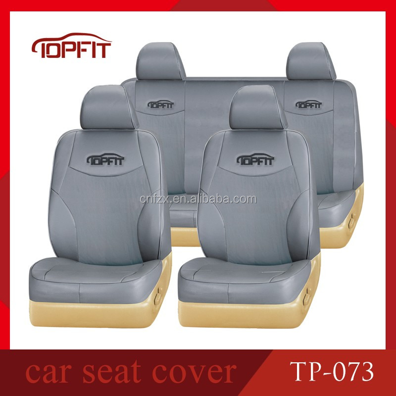 guangzhou car seat cover factory supply grey color pvc leather car seat cover with 8+2mm sponge for Toyota Corolla TP-073