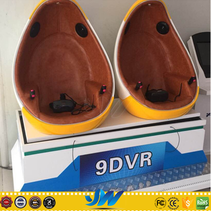 Egg 9D VR Cinema With Lots Of Beautiful Fiber-Glass Chairs And 35PCS VR Movies