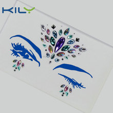 Custom make newest product jewelry body sticker party makeup self-adhesive rhinestone eye sticker for decoration