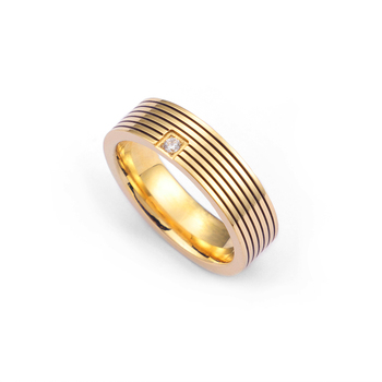 Fashion Gold Stone&Crystal Ring Women and Men