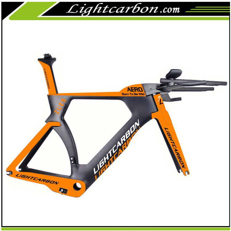 New! 2017 LightCarbon aerodynamic design 700c carbon bike frame tt time trial carbon frameset LCTT004