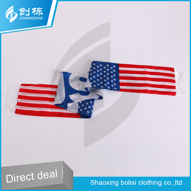 China factory American flag pattern professional fans fashionable scarf