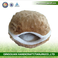 QQ pet factory wholesale hamburger cats egg house & egg pet house & washable egg shaped pet bed
