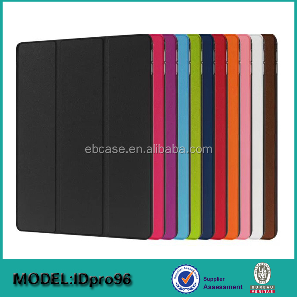 Alibaba hot sell 3 folding leather folio tablet case for ipad pro,for ipad pro 12.9 inch folio case