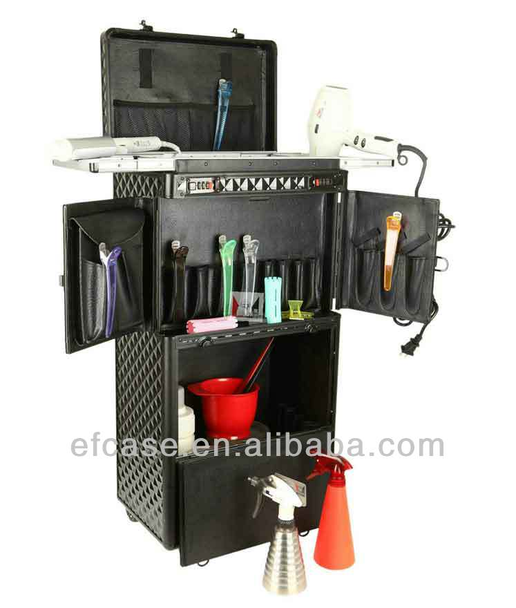 HOT SALE,PROFESSIONAL LARGE HAIRDRESSING BEAUTY TROLLEY CASE WITH WHEELS