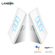 US standard Lanbon mutual control 1/2/3 gang light wall switch smart home system work with google assistant