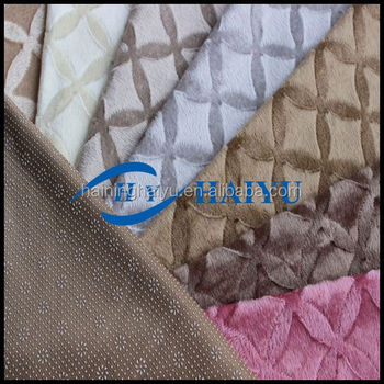 polyester Turkey velboa upholstery fabric with anti slip dot back