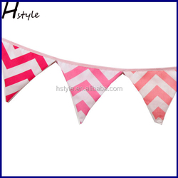 Pink Cotton Fabric, Double Sided Bunting,Banner,Flag,Event PL013