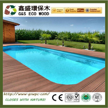 2017 high quality engineered wood outdoor flooring WPC decking nice fit for swimming pool waterproof wpc board floor