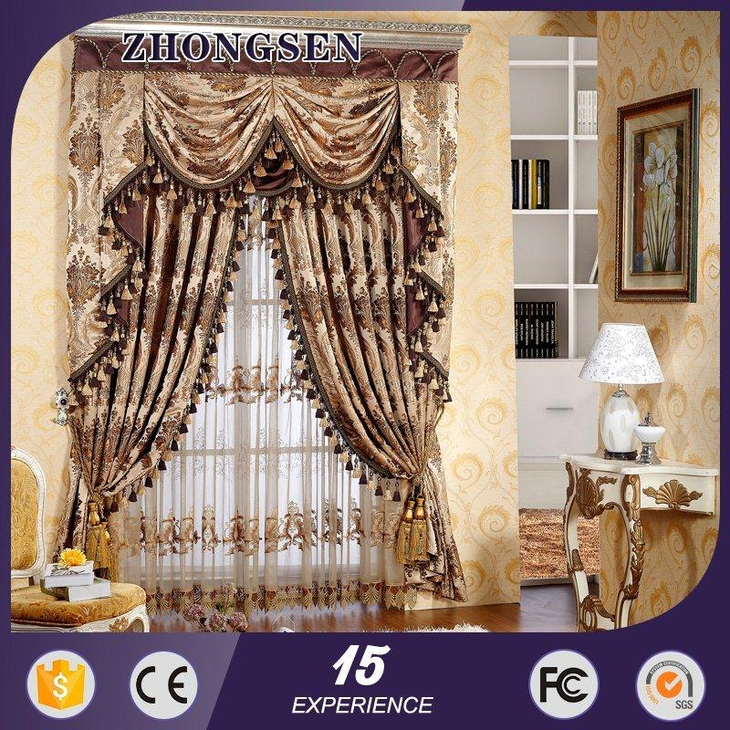 HOT SALE BLUE&WRITE LIVING ROOM black lace curtains