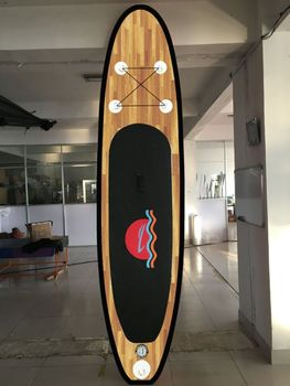 2016 new style wood grain sup board inflatable sup paddle board/wood background racing board with paddle, pump, backpack