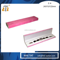 Pink Long Shape Rectangular Plastic Single Women Watch Packaging