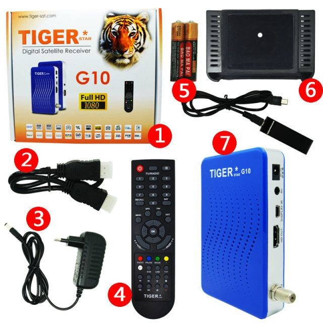 Mini HD FTA Digital Satellite Receiver Power vu Decoder