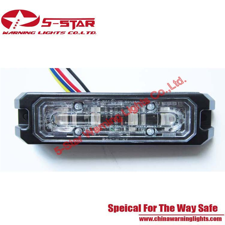 Gen 5th Technology 3W LED Grille Strobe Surface Mounting Emergency Vehicle Warning Light