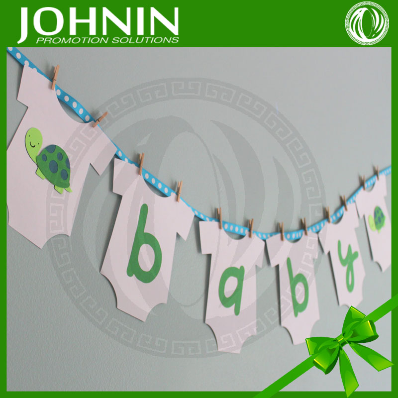 hot selling cute designs and accept custom made baby shower banner