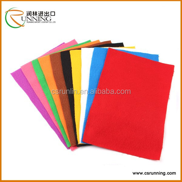 Wholesale colored felt for shoes,craft,bag