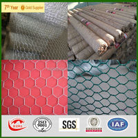 Anping Qiangguan Factory Hexagonal chicken wire mesh fence / lowes chicken wire mesh roll / chicken coop hexagonal wire mesh