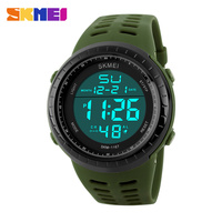 Fashion digital multimedia watch 2016 with large digital stopwatch