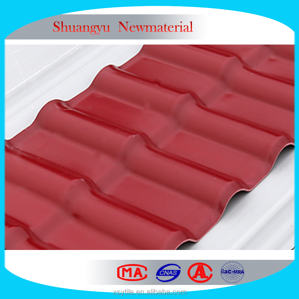 Hot Selling Anti-corrosion Spanish Style Plastic Roof Tile