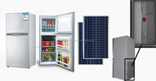 12v 24v solar refrigerator fridge freezer built in battery 98L for home use factory price 2016 NEW product