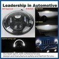 DOT Approved 7 inch led jeep headlights High Low beam with Angel Eyes led driving light for cars motorcycle