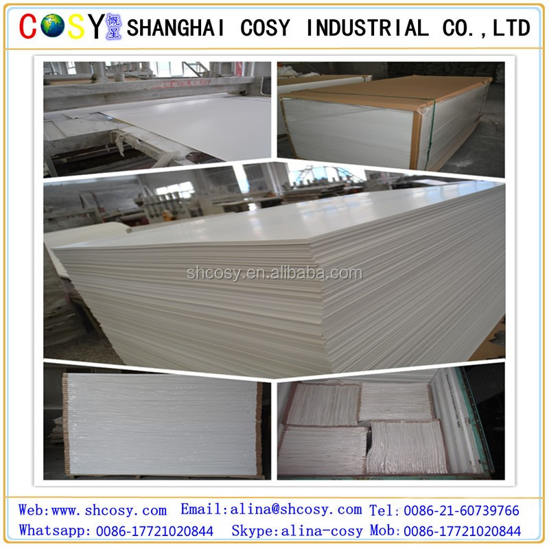 impact resistant PVC foam board/pvc sintra foam sheet for advertising/building