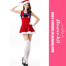 Wholesale Christmas Xmas Party Red Santa Sweetie Women Sexy Costume Dress