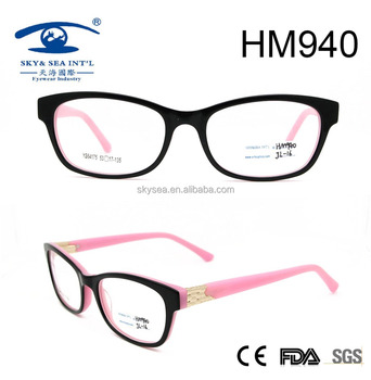 2017 new style fashion designer acetate optical frame for wholesale