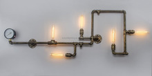 Popular Loft Industrial Vintage Pipe Wall Lamp With Edison Bulb Wall Lamp (980x380x100mm)