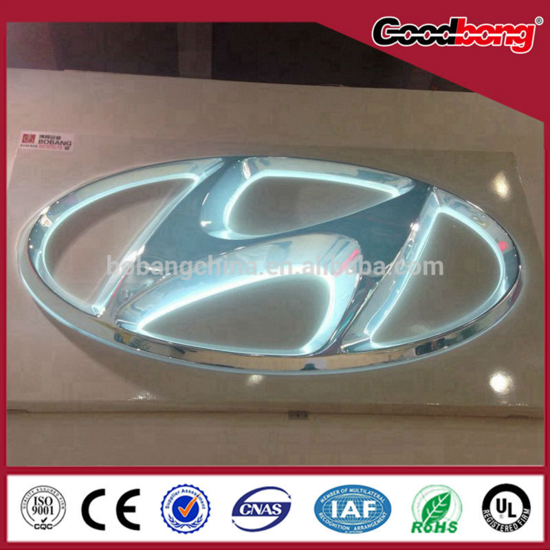 Custom brand waterproof stainless steel letters back light car logo with names
