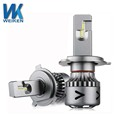 WEIKEN new products auto parts high power super bright led headlight bulb car h4 h7 led headlight