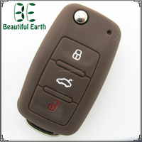Vw Silicone Remote Key Shell Durable Blue Green Red Black