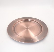 Stainless steel copper Charger Plate/ copper wedding table plate