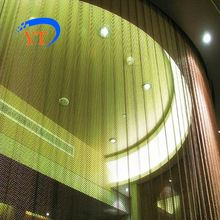 ceiling decorative metal mesh fabric drapery for restaurant