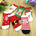 Newest Xmas Gift Snowflake Deer Non-slip Ugly Christmas Socks Wholesale Soft Warm Winter Baby Ugly Christmas Non slip Floor Sock